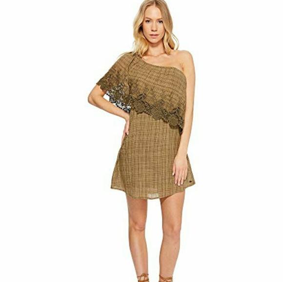 O'Neill Dresses & Skirts - 🔥 O'Neil Eryn One-Shoulder Lace Gauze Dress NWOT
